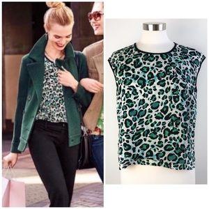 CAbi | Leopard Jungle Print Blouse